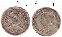 Изображение Монеты Новая Зеландия 3 пенса 1934 Серебро VF
