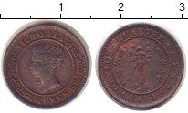 Изображение Монеты Цейлон 1/4 цента 1870 Медь XF