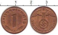 Изображение Монеты Третий Рейх 1 пфенниг 1940 Бронза XF J