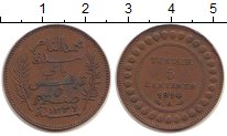 Изображение Монеты Тунис 5 сентим 1914 Бронза XF