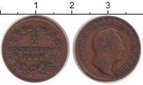 Изображение Монеты Германия Баден 1/2 крейцера 1849 Медь VF
