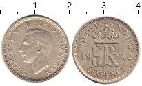 Изображение Монеты Великобритания 6 пенсов 1942 Серебро VF