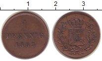 Изображение Монеты Бавария 1 пфенниг 1855 Медь XF