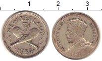 Изображение Монеты Новая Зеландия 3 пенса 1934 Серебро XF