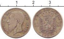 Изображение Монеты Бельгия 50 сантимов 1866 Серебро VF