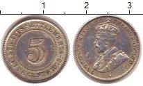 Изображение Монеты Стрейтс-Сеттльмент 5 центов 1913 Серебро XF
