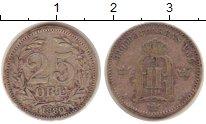 Изображение Монеты Швеция 25 эре 1880 Серебро VF