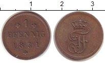 Изображение Монеты Германия Мекленбург-Шверин 1 пфенниг 1831 Медь XF