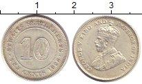 Изображение Монеты Стрейтс-Сеттльмент 10 центов 1926 Серебро XF