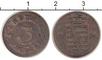 Изображение Монеты Саксен-Майнинген 3 крейцера 1839 Серебро VF