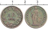 Изображение Монеты Швейцария 1/2 франка 1901 Серебро VF