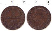 Изображение Монеты Италия 2 сентесимо 1897 Бронза XF