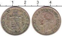 Изображение Монеты Саксония 1/6 талера 1856 Серебро XF Иоганн V.  F