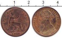 Изображение Монеты Великобритания 1 фартинг 1866 Бронза UNC-