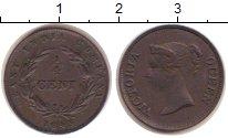 Изображение Монеты Стрейтс-Сеттльмент 1/4 цента 1845 Медь XF