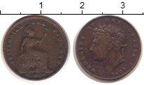 Изображение Монеты Великобритания 1/2 фартинга 1827 Медь XF Георг IV.
