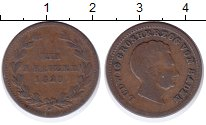 Изображение Монеты Баден 1 крейцер 1828 Медь VF