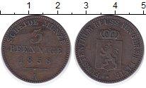 Изображение Монеты Рейсс 3 пфеннига 1858 Медь XF