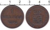 Изображение Монеты Саксен-Майнинген 1 крейцер 1854 Медь VF