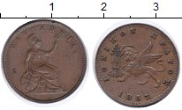 Изображение Монеты Греция Ионические острова 1 лепта 1857 Медь XF