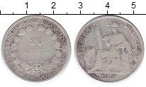 Изображение Монеты Индокитай 20 центов 1879 Серебро VF