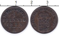 Изображение Монеты Шварцбург-Зондерхаузен 1 пфенниг 1858 Медь XF