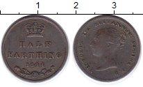 Изображение Монеты Великобритания 1/2 фартинга 1844 Медь XF Королева  Виктория.