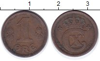 Изображение Монеты Дания 1 эре 1921 Бронза XF