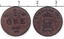 Изображение Монеты Швеция 1 эре 1907 Бронза XF Оскар II.