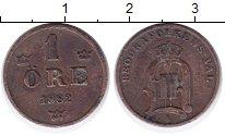 Изображение Монеты Швеция 1 эре 1882 Бронза XF Оскар II.