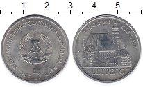 Изображение Монеты ГДР 5 марок 1984 Медно-никель XF Лейпциг.  Кирха  Том