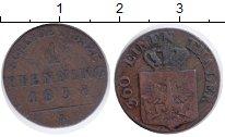 Изображение Монеты Пруссия 1 пфенниг 1838 Медь VF