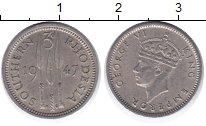 Изображение Монеты Родезия 3 пенса 1947 Медно-никель VF
