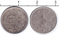 Изображение Монеты Турция 1 куруш 1909 Серебро XF