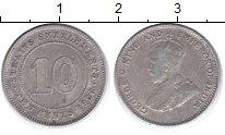 Изображение Монеты Стрейтс-Сеттльмент 10 центов 1928 Серебро VF