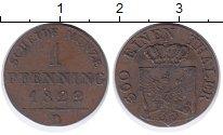 Изображение Монеты Пруссия 1 пфенниг 1822 Медь VF