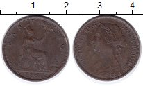 Изображение Монеты Великобритания 1 фартинг 1860 Медь XF