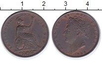 Изображение Монеты Великобритания 1 фартинг 1826 Медь XF Георг IV