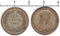 Изображение Монеты Нидерланды 25 центов 1892 Серебро VF