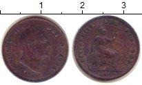Изображение Монеты Великобритания 1/2 фартинга 1835 Медь XF- Вильгельм IV.