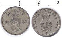 Изображение Монеты Швеция 10 эре 1882 Серебро UNC- Оскар II