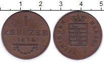 Изображение Монеты Саксен-Майнинген 1 крейцер 1834 Медь XF
