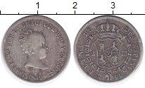 Изображение Монеты Испания 2 реала 1849 Серебро VF