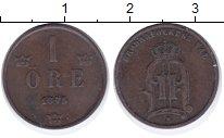 Изображение Монеты Швеция 1 эре 1895 Бронза XF Оскар II.