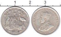 Изображение Монеты Австралия 6 пенсов 1926 Серебро VF Георг V