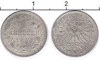 Изображение Монеты Франкфурт 1 крейцер 1863 Серебро XF+