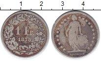 Изображение Монеты Швейцария 1 франк 1875 Серебро VF