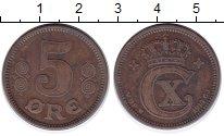 Изображение Монеты Дания 5 эре 1914 Бронза XF
