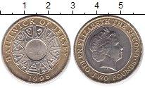 Изображение Монеты Остров Джерси 2 фунта 1998 Биметалл UNC- Елизавета II.