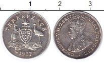 Изображение Монеты Австралия 3 пенса 1927 Серебро XF Георг V